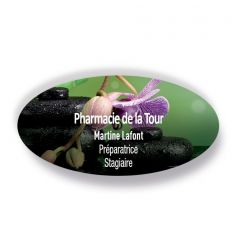 Badge Aimanté Ovale ORCHIDÉE