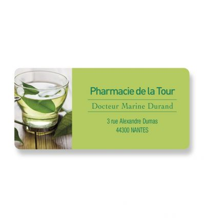 Badge Aimanté Rectangle TISANE