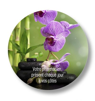 Sticker De Sol Ø 20 Cm ORCHIDÉE